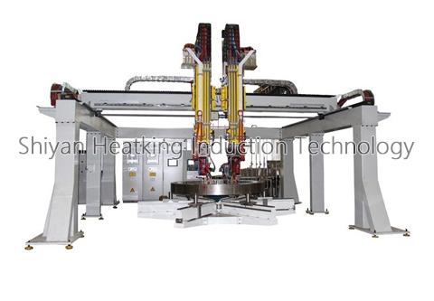 Slewing Bearing Single Gear / Rolling Element Raceway Hardening Machine